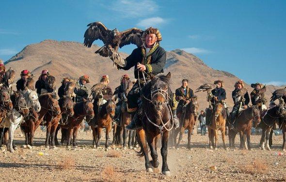 Охота с беркутом в Казачстане