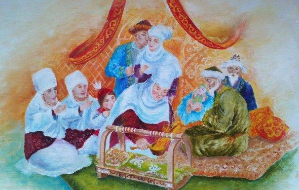 Картины маслом Казахские