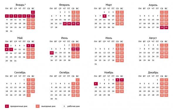 Проект календаря праздничных